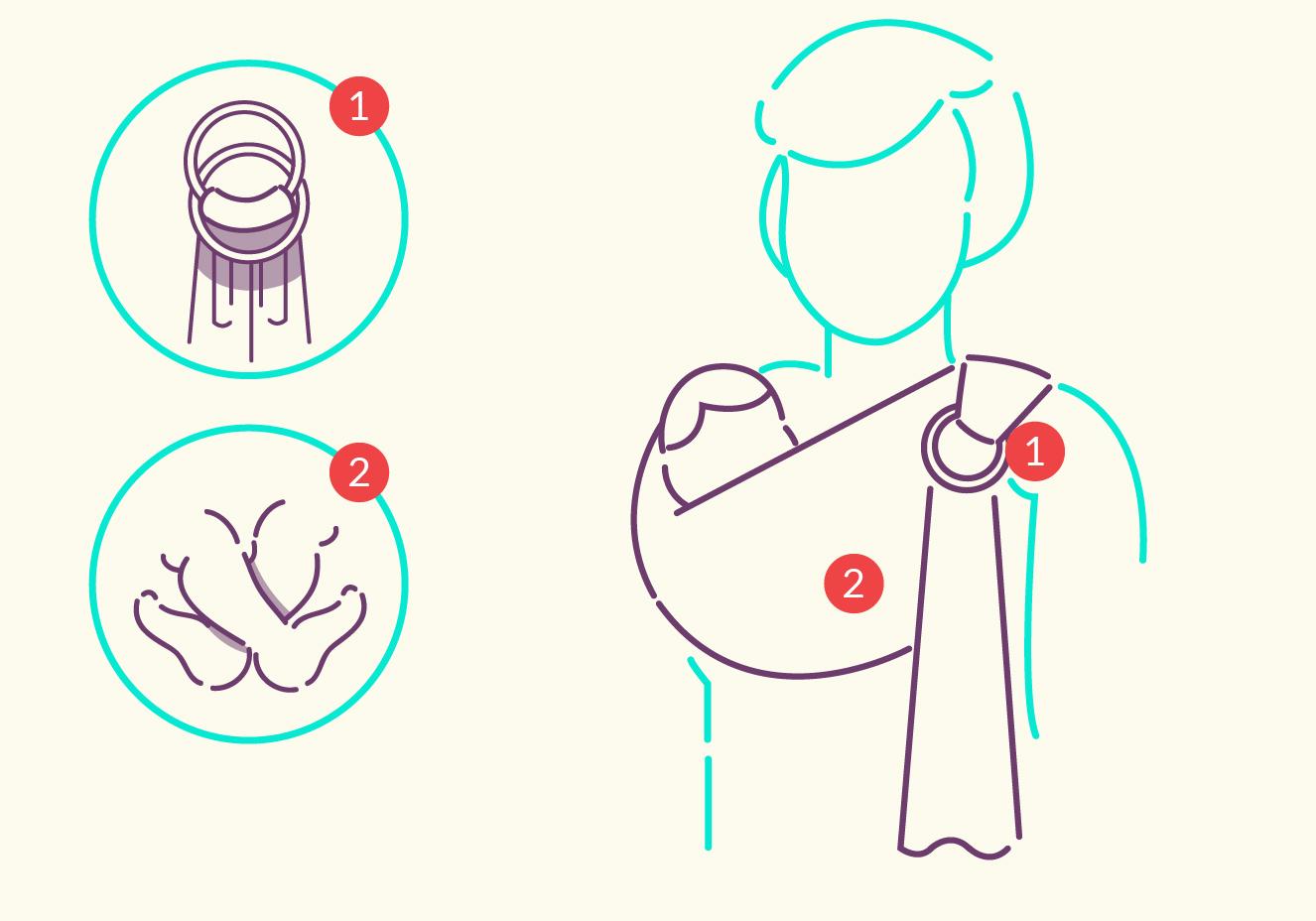 Sling de argola para carregar bebê