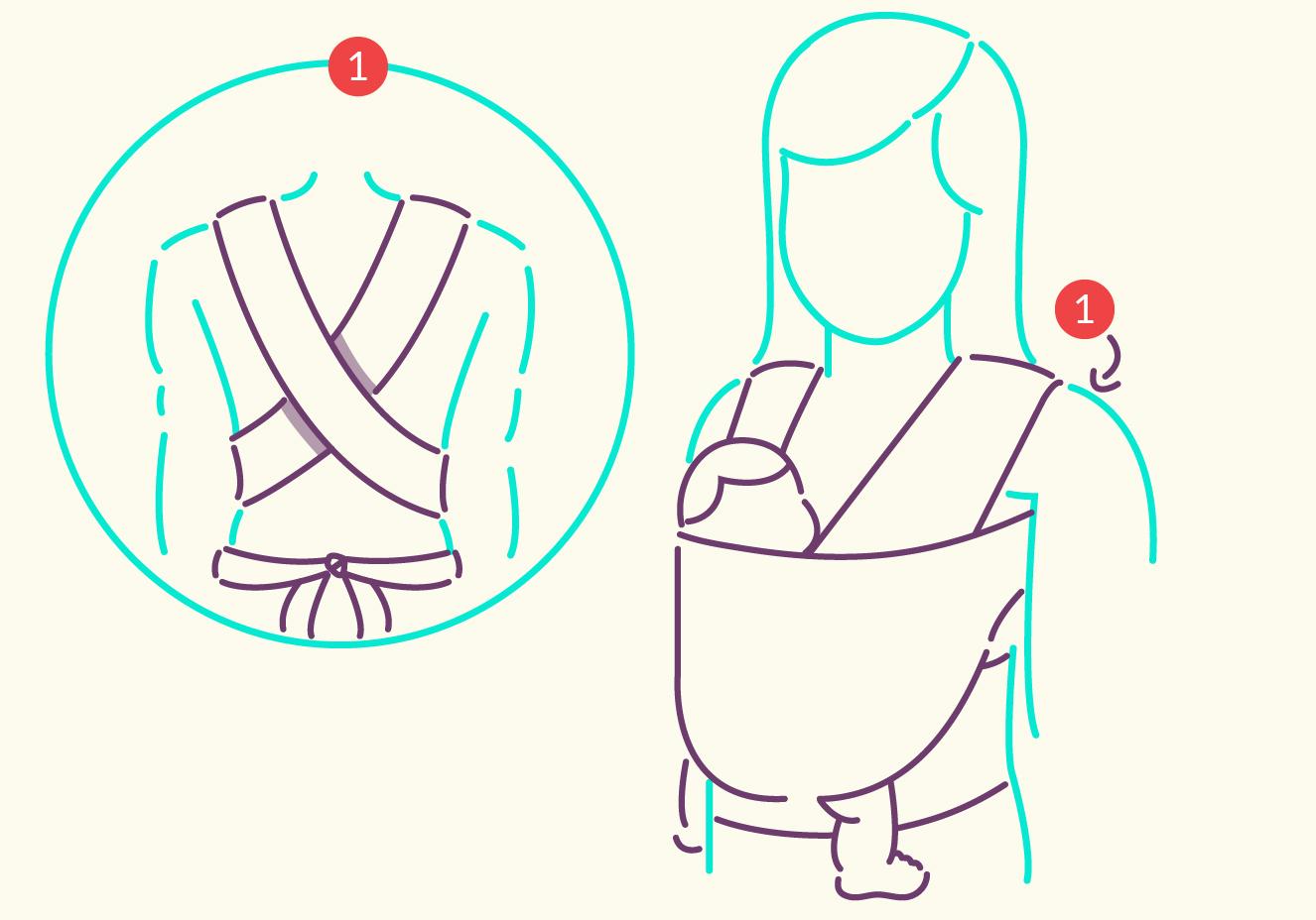 Wrap sling para carregar bebê