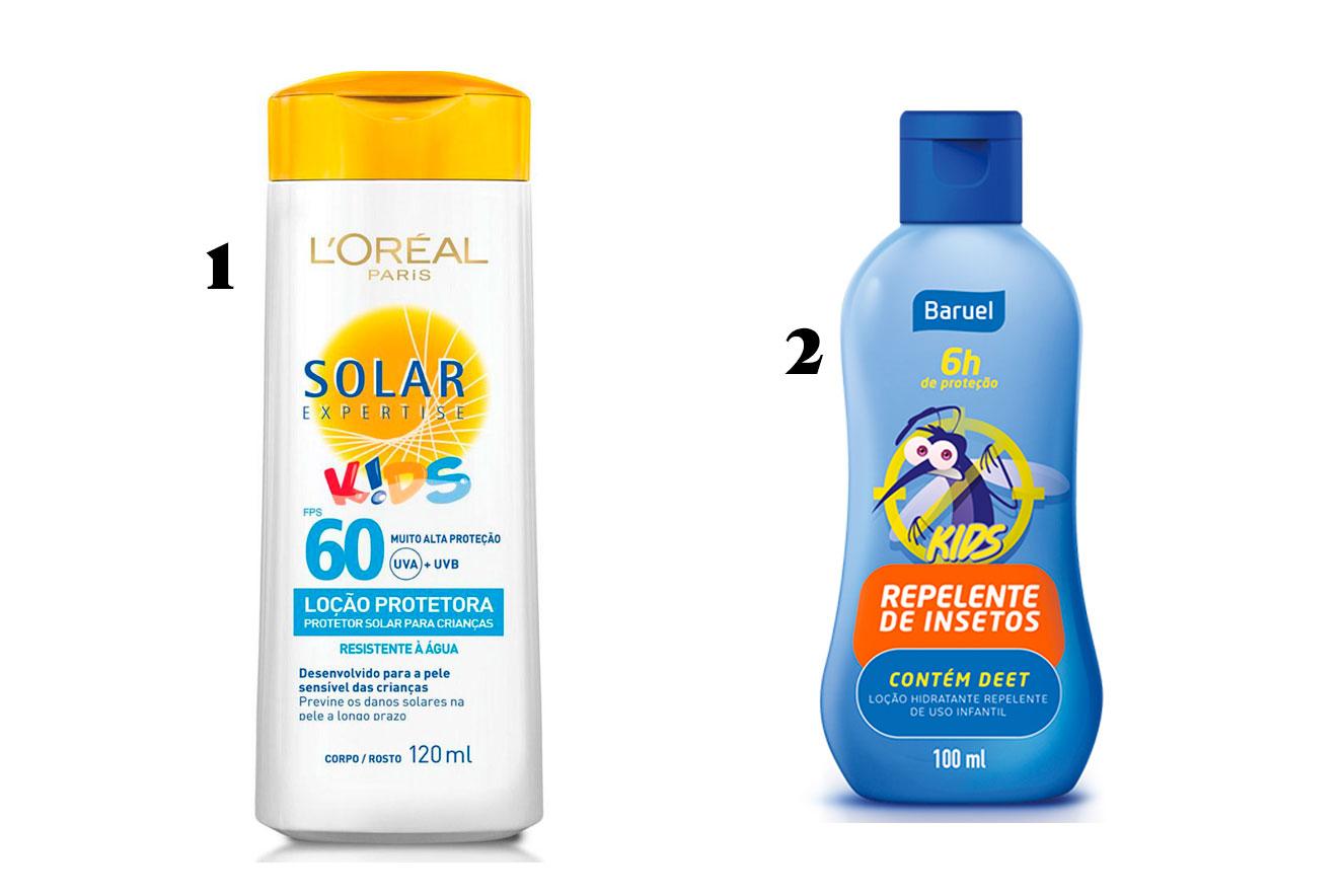 Protetor solar e repelentes