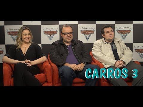 """Dubladores do filme """"Carros 3"""" falam sobre a animação"""