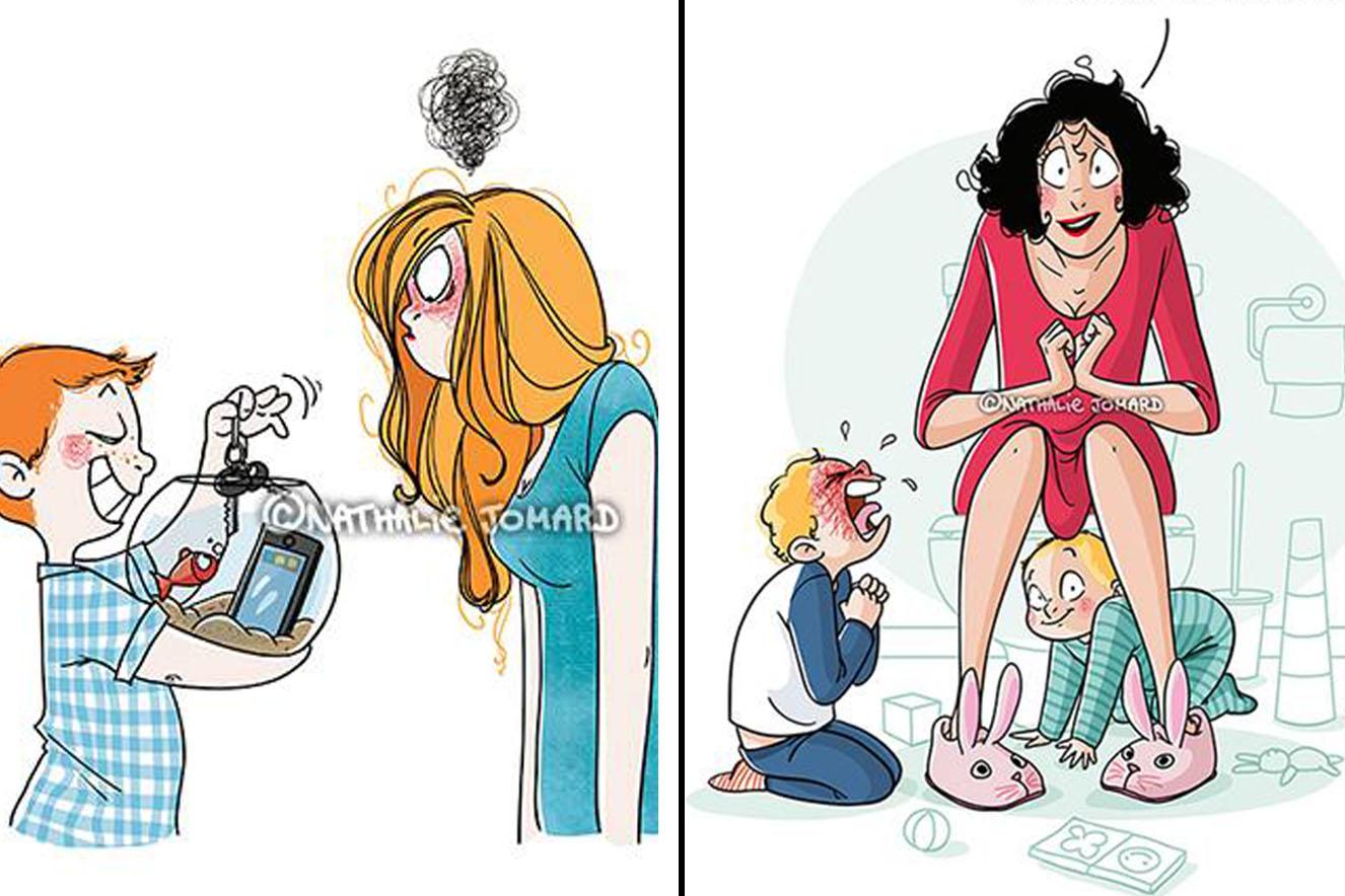 ilustrações maternidade
