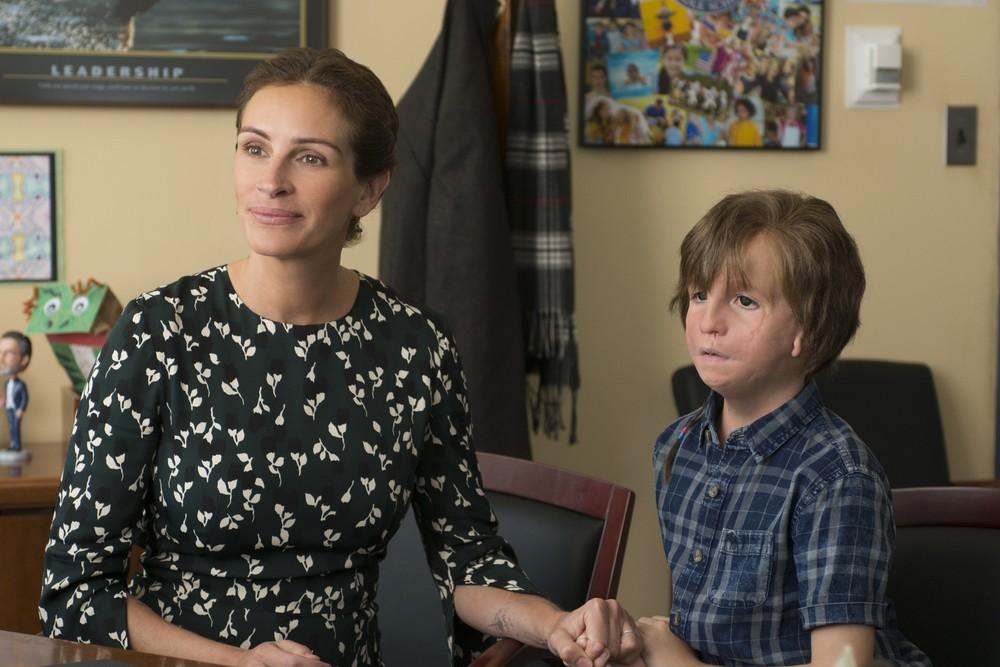 Auggie e sua mãe