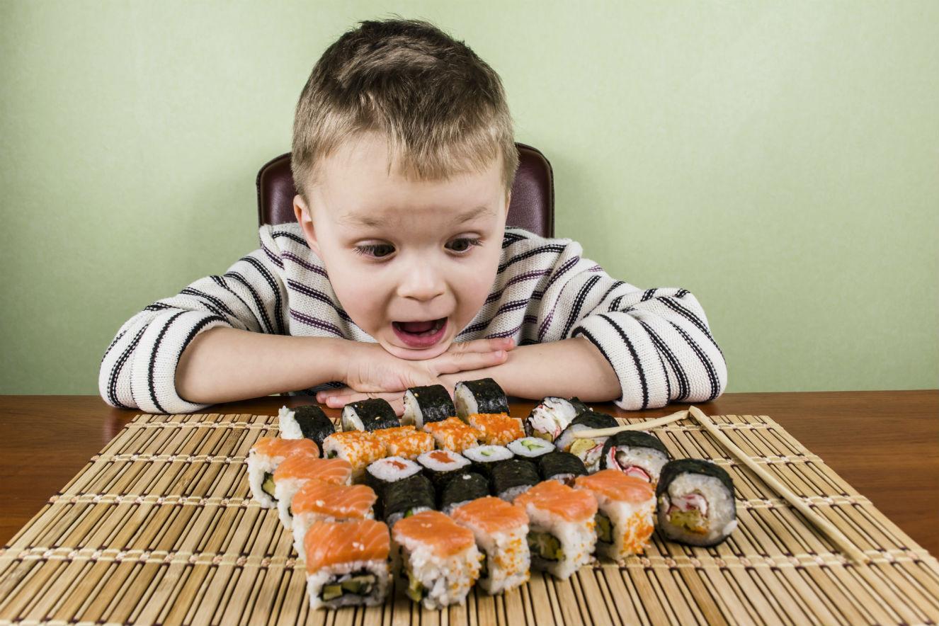 crianca pode comer comida japonesa