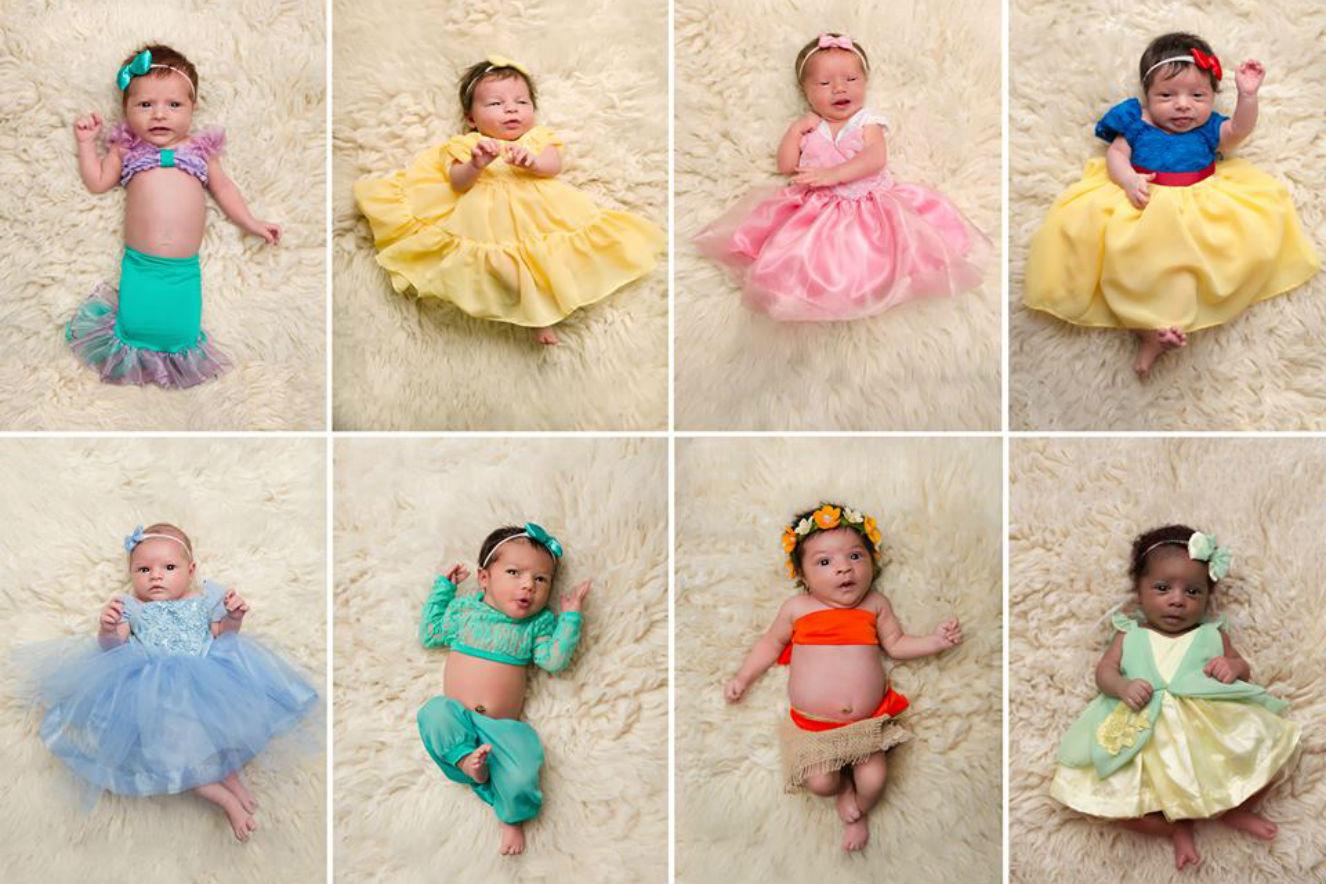 fotos newborn princesas da disney 12