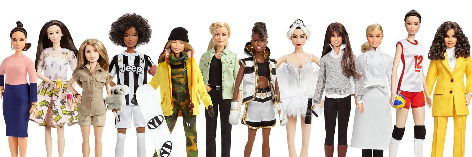 Barbies do projeto Shero, da Mattel