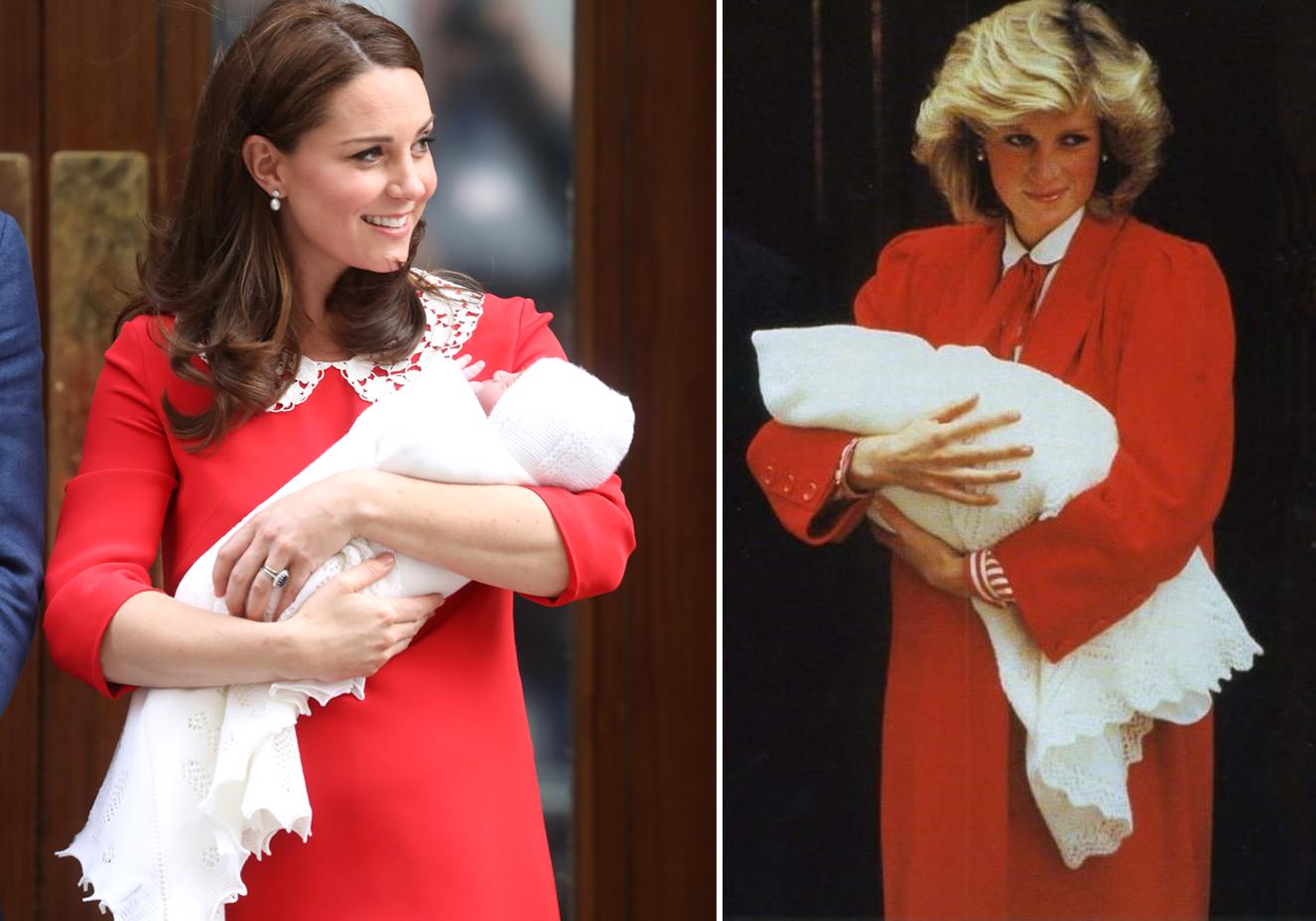 Kate Middleton faz homenagem para Lady Di após nascimento do terceiro filho