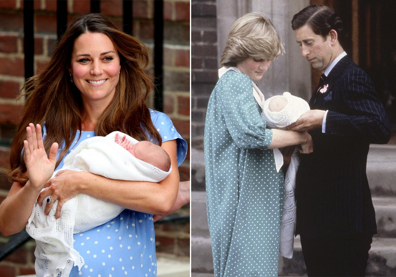 Kate Middleton faz homenagem para Lady Di após nascimento de George