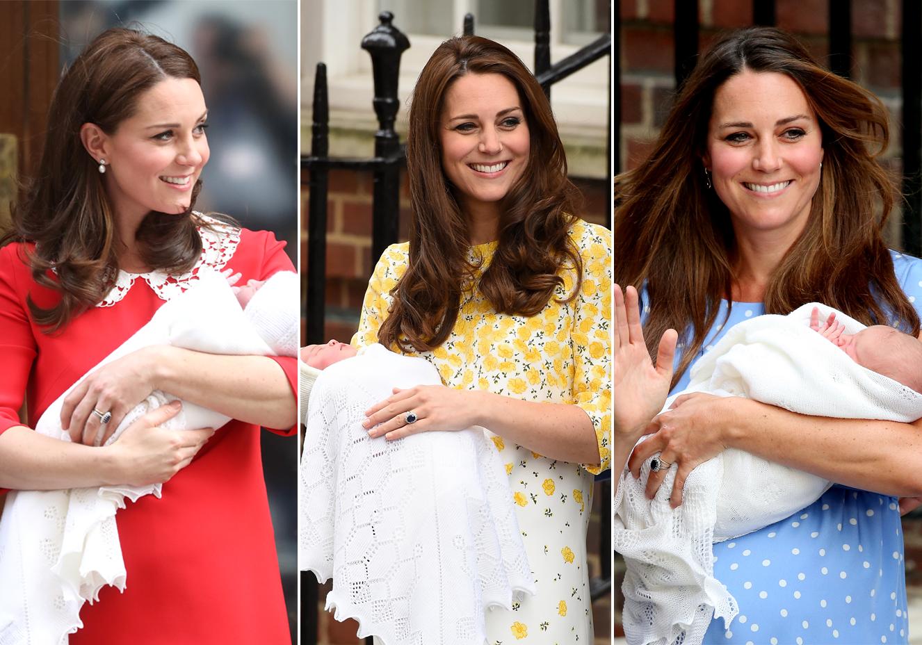 Looks de Kate Middleton após o nascimento de cada um dos três filhos