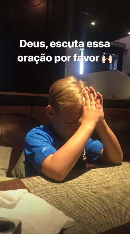 """""""Meu pai fez um golaço que eu gostei demais"""", diz filho de Neymar"""