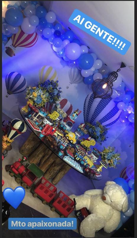 Thais Fersoza mostra decoração da festa de 1 ano de Teodoro
