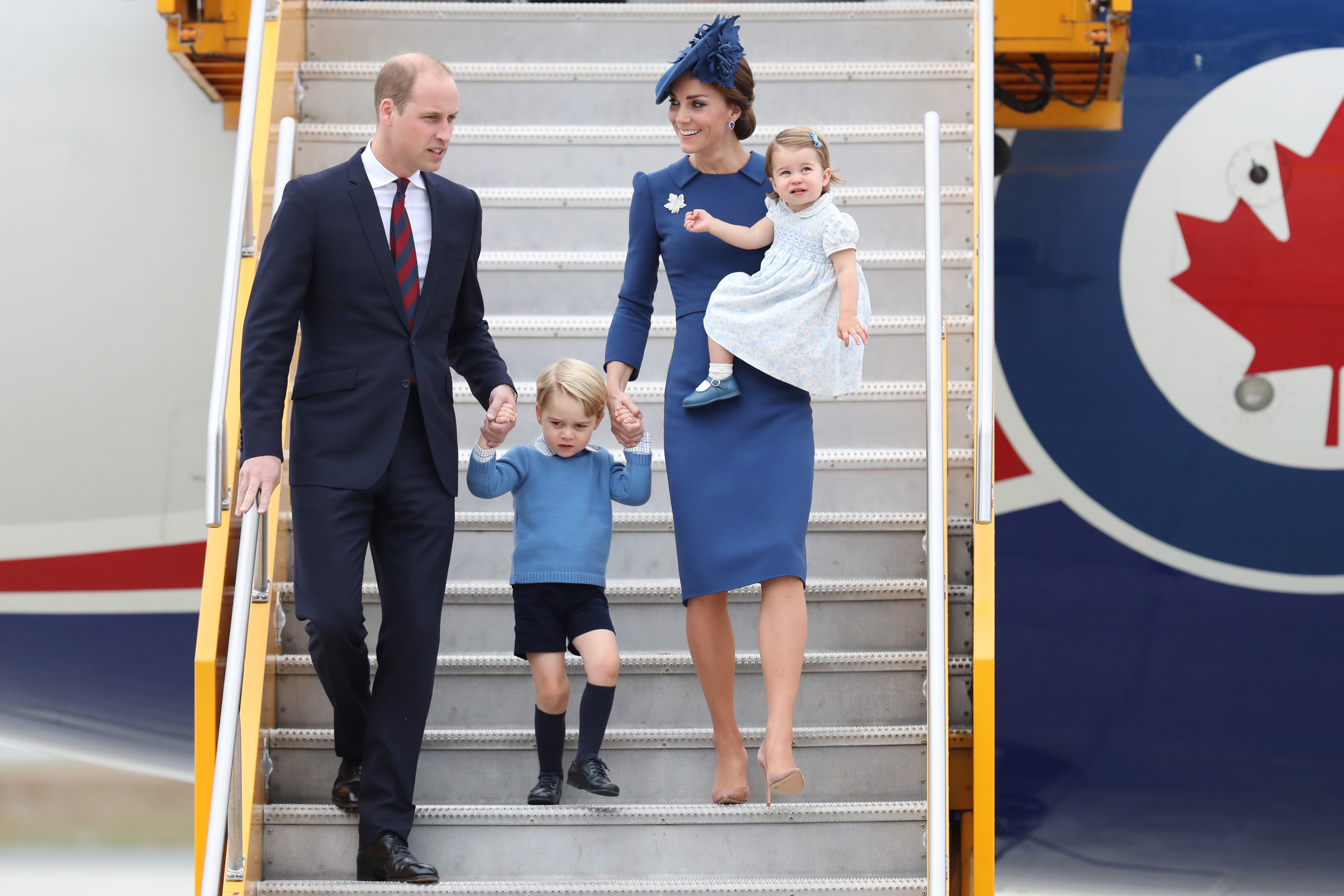 William George Kate Charlotte no Canadá 2016