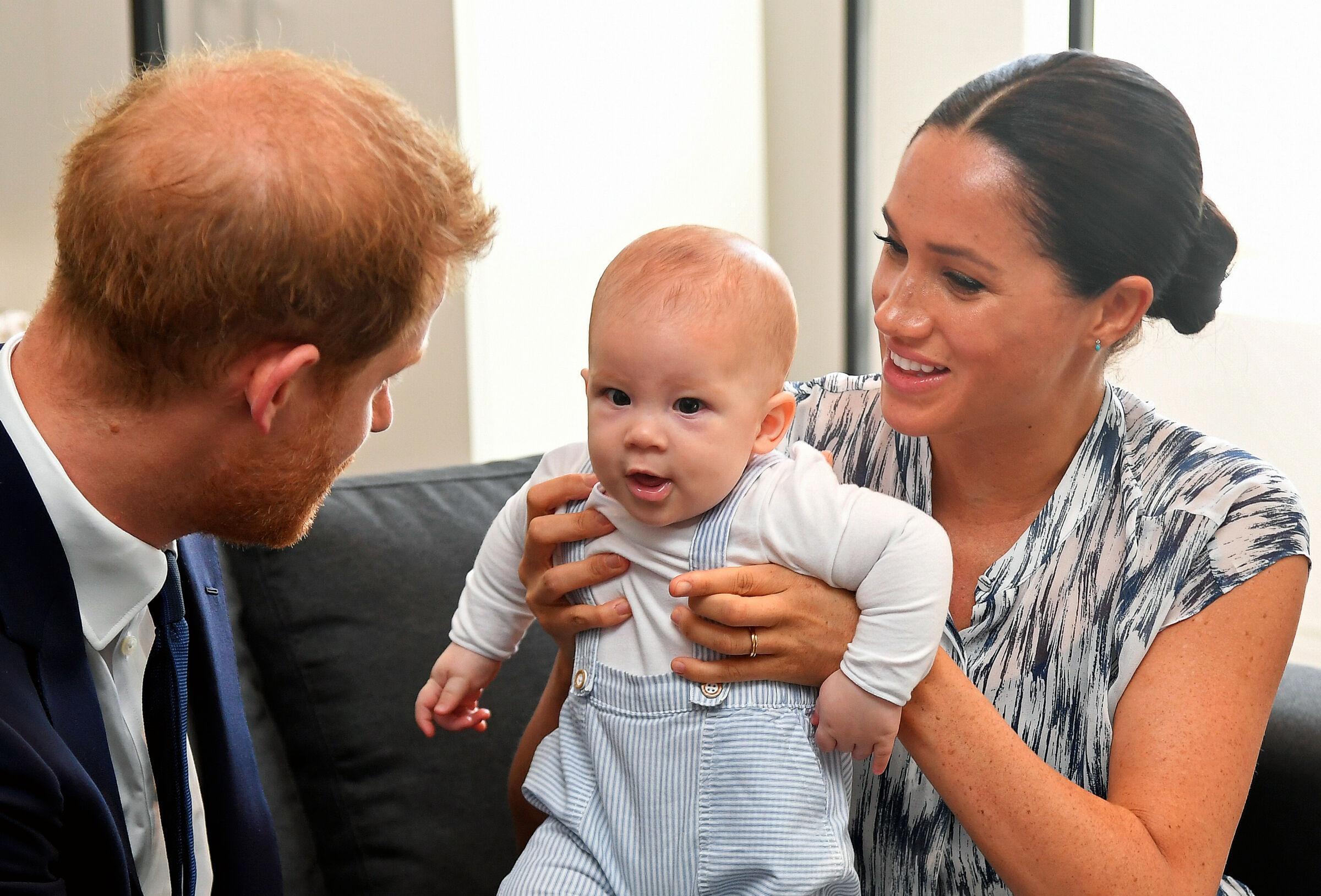 Princípe Harry, Megan Markle e o filho Archie