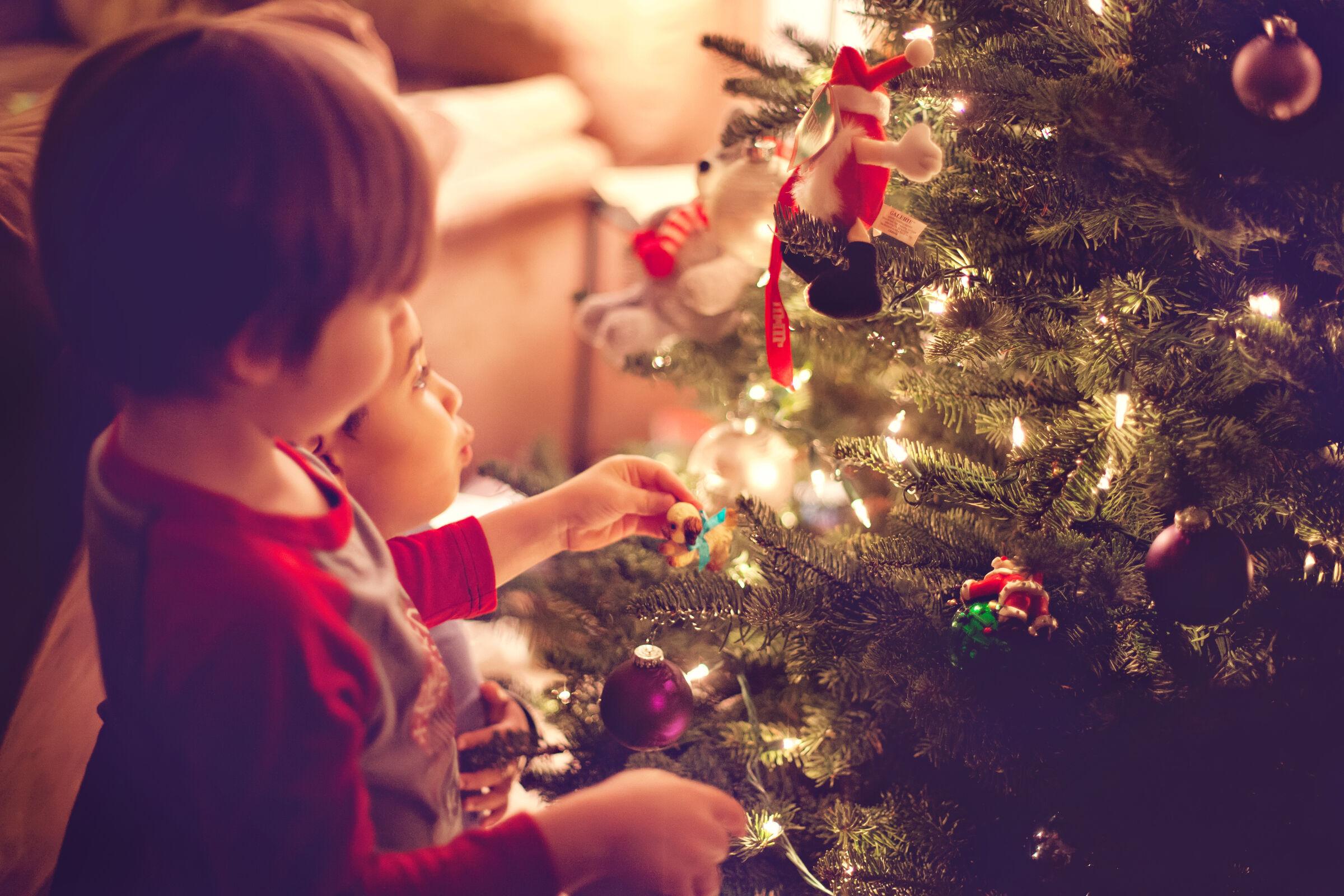 Preparativos de Natal com os filhos