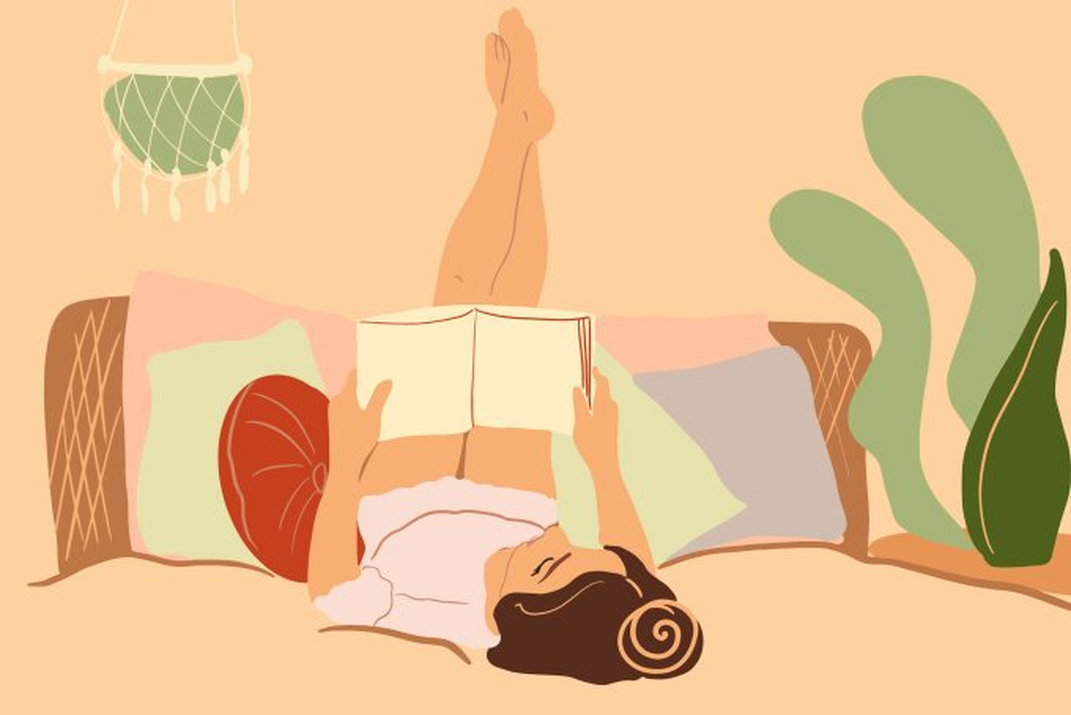 mulher lendo livro