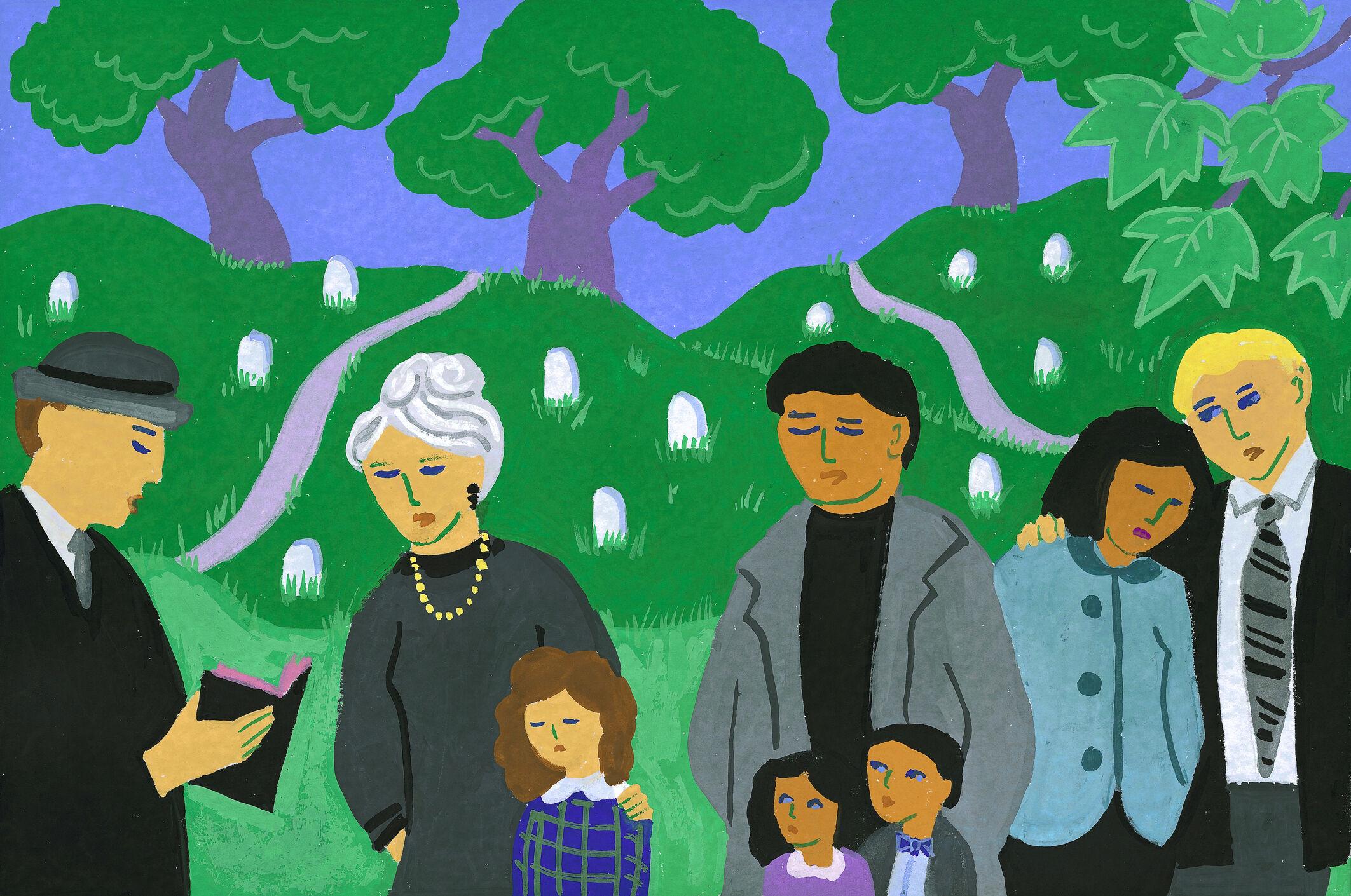 Família em funeral