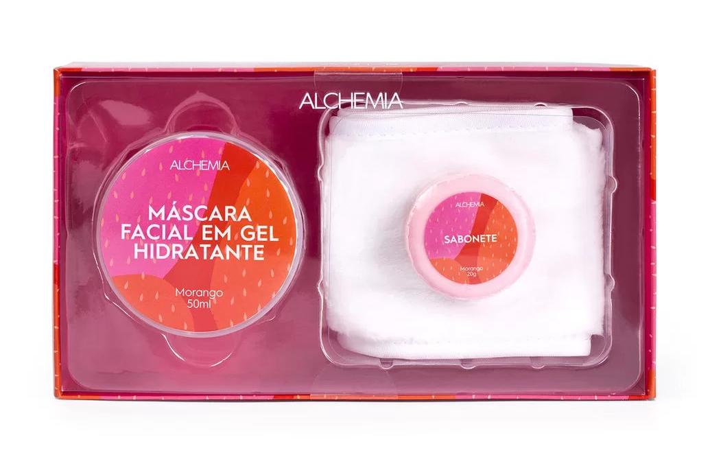 Kit máscara gel facial e faixa para cabelo, Alchemia