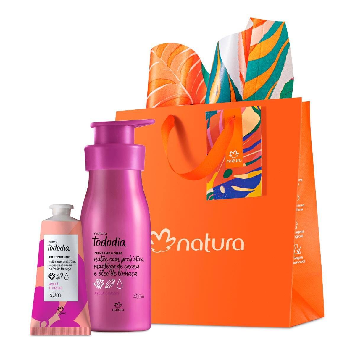 Kit com um creme desodorante nutritivo para o corpo e um creme hidratante para as mãos, Natura