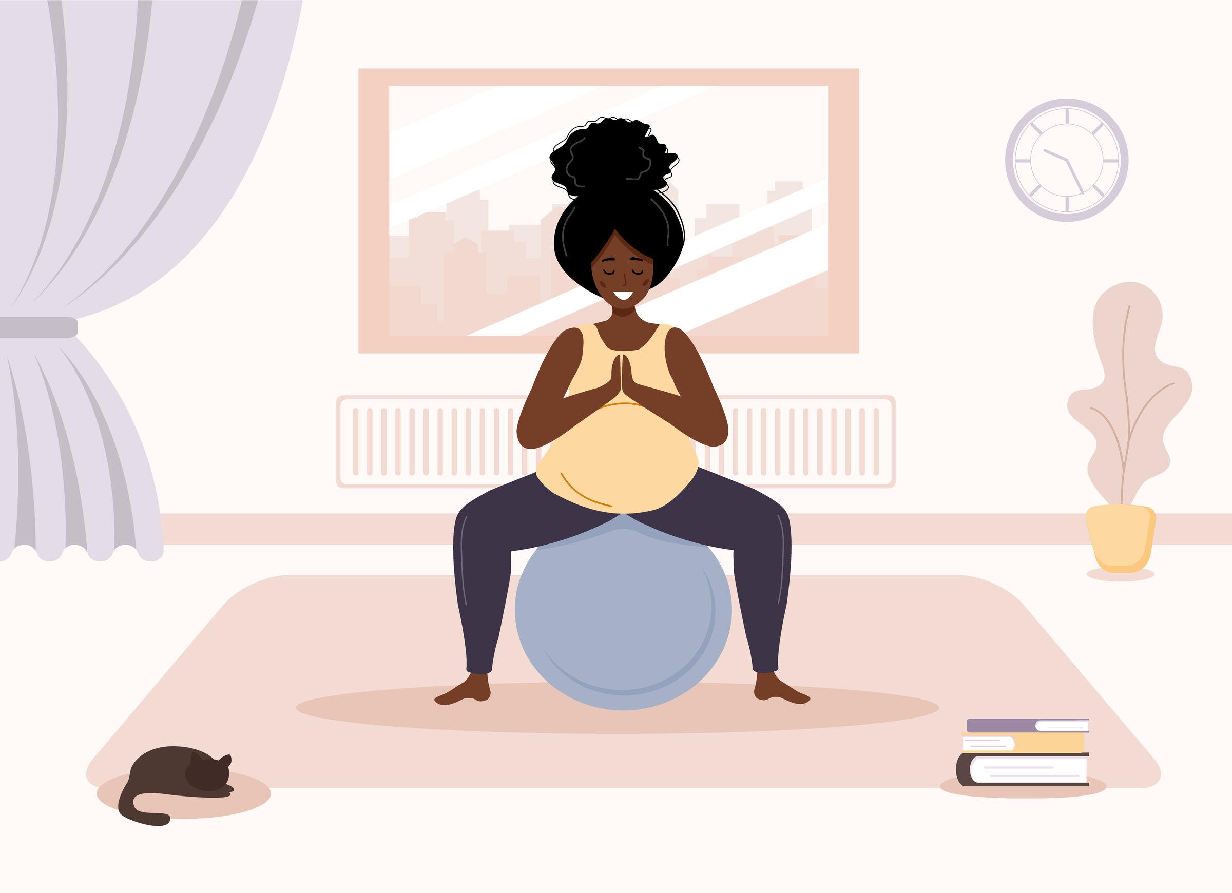 Grávida-fazendo-ioga