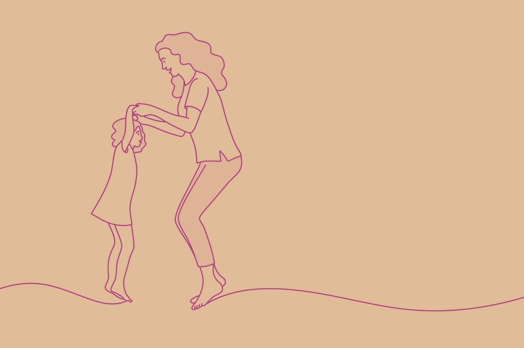 mae-filha-pulando