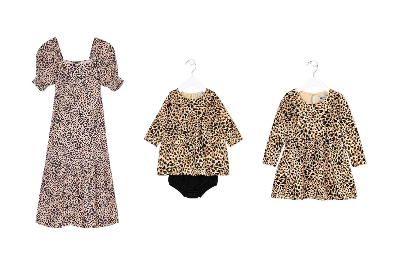 Três tamanhos do mesmo vestido