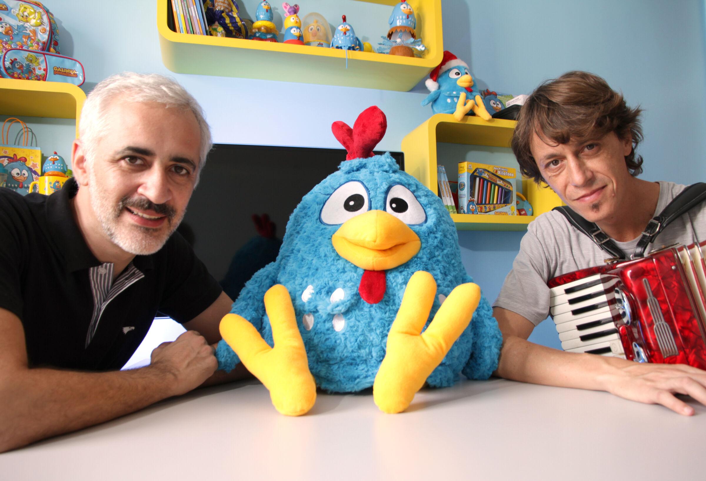 Marcos e Juliano criadores da Galinha Pintadinha